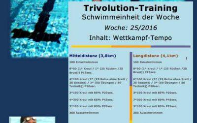Schwimmtrainingsplan – Woche 25