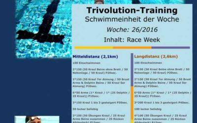 Schwimmtrainingsplan – Woche 26